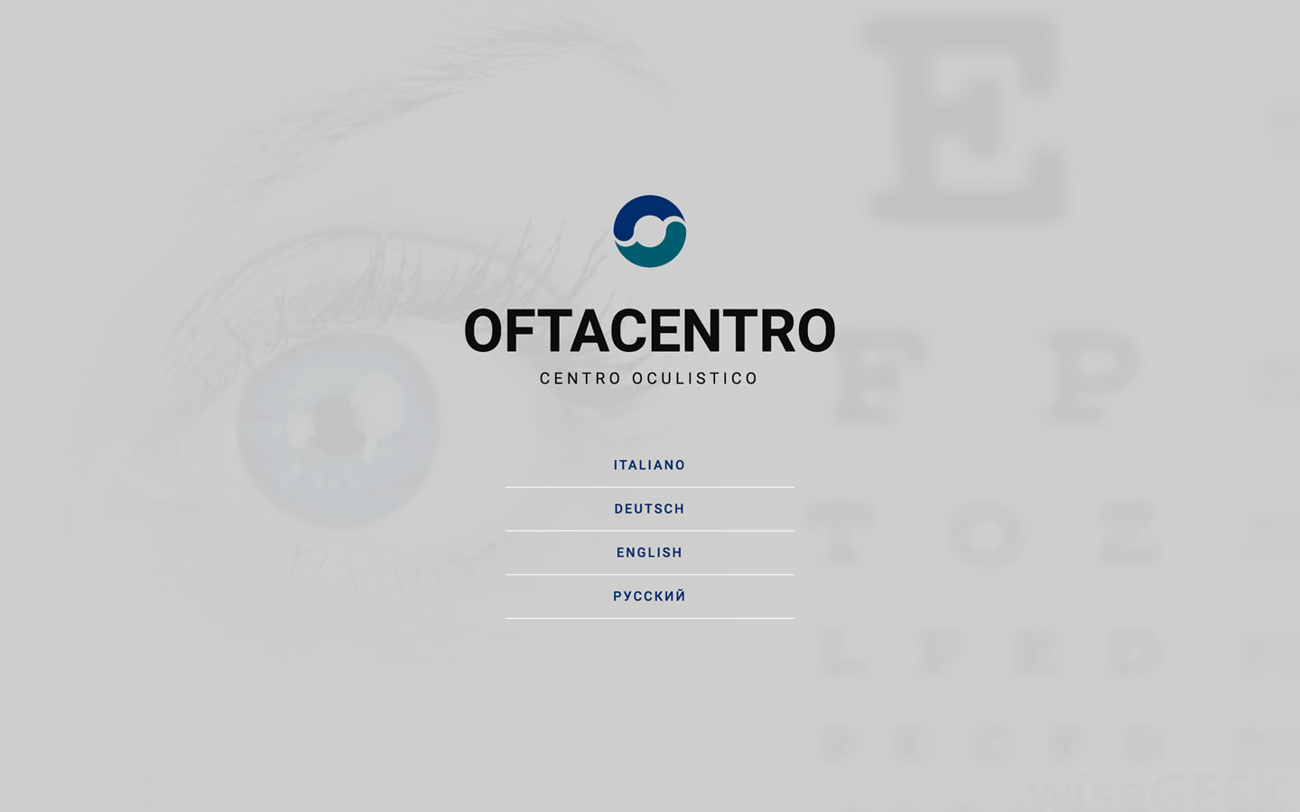 Screenshot of website designed for Oftacentro